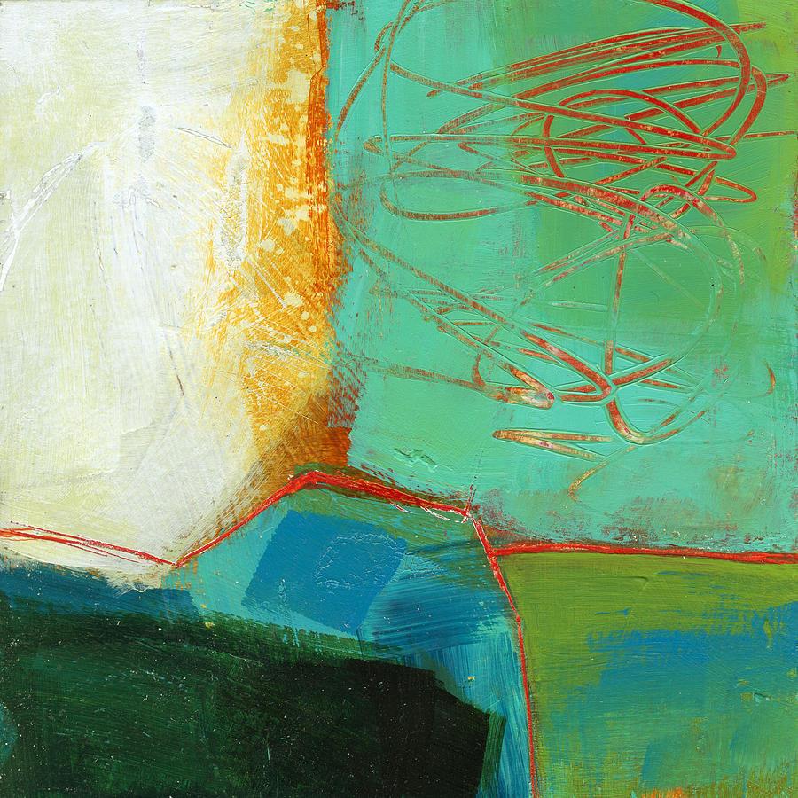 Abstract Painting - Teeny Tiny Art 110 by Jane Davies