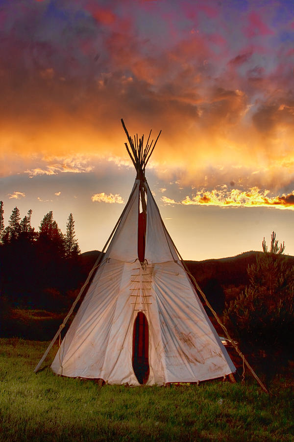Teepee Photograph - Teepee Sunset Portrait by James BO  Insogna