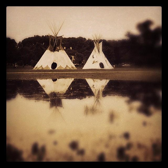Minneapolis Photograph - Teepees In Town  by Heidi Hermes
