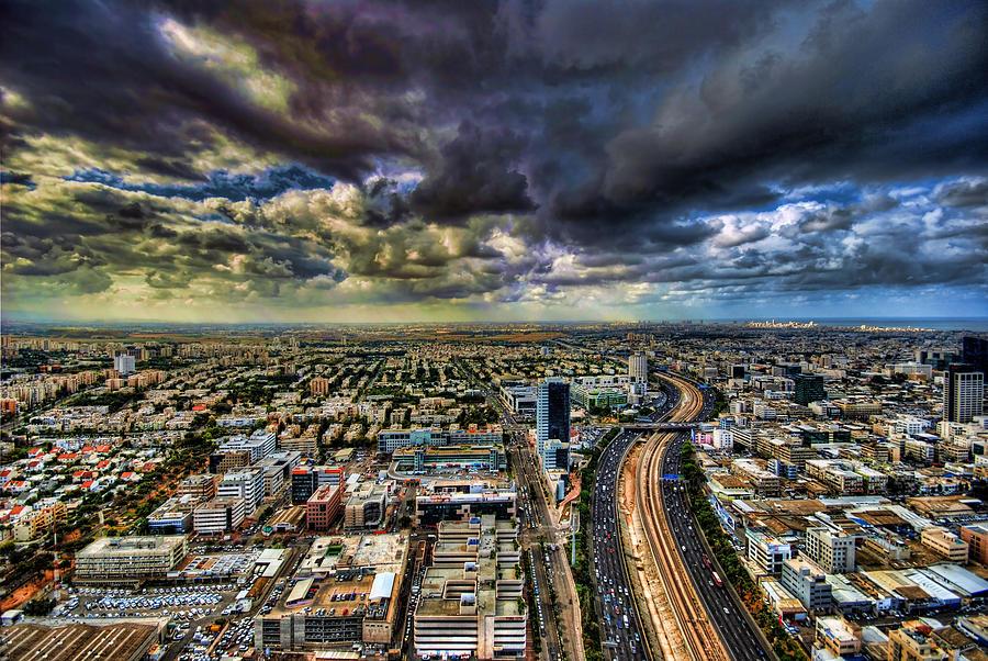 Israel Photograph - Tel Aviv Blade Runner by Ron Shoshani