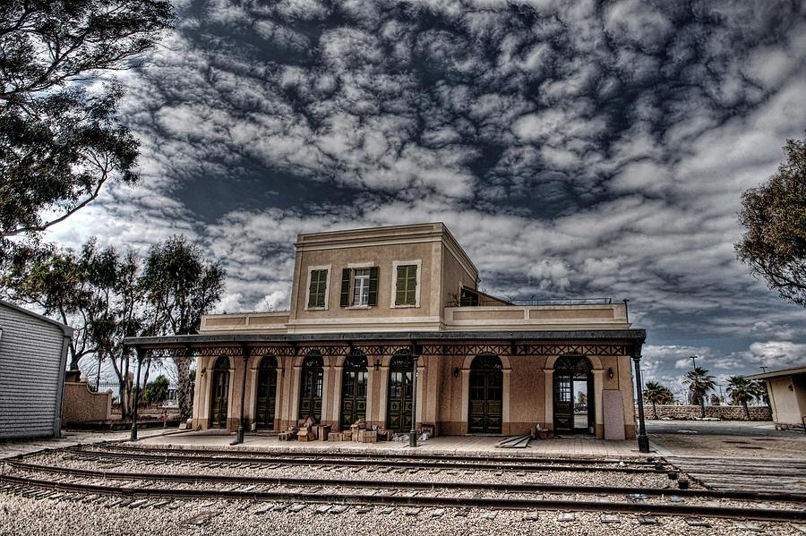 Israel Photograph - Tel Aviv First Railway Station by Ron Shoshani