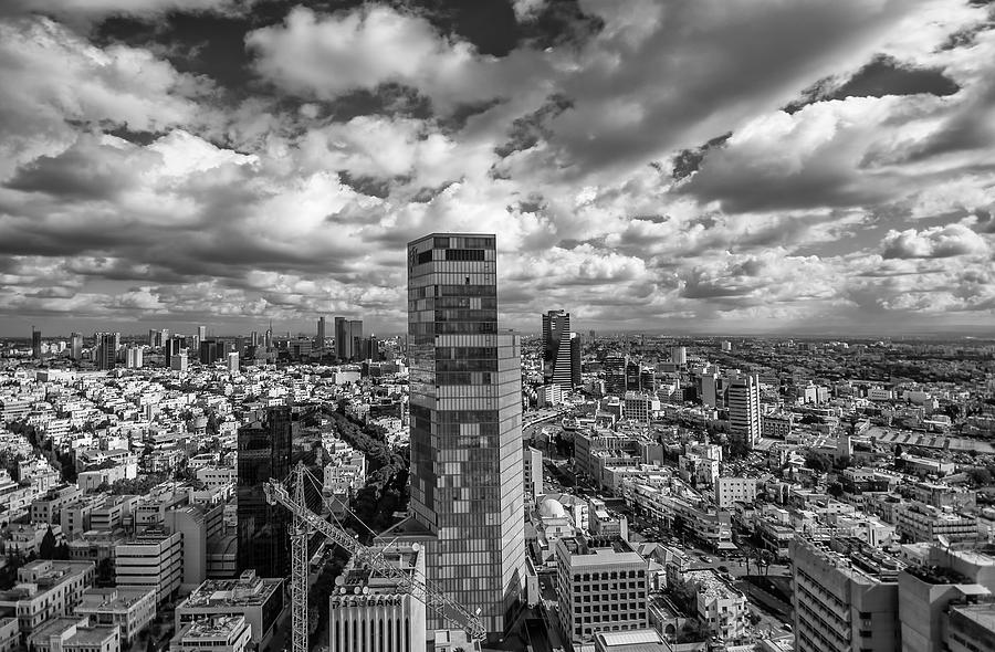 Israel Photograph - Tel Aviv High And Above by Ron Shoshani