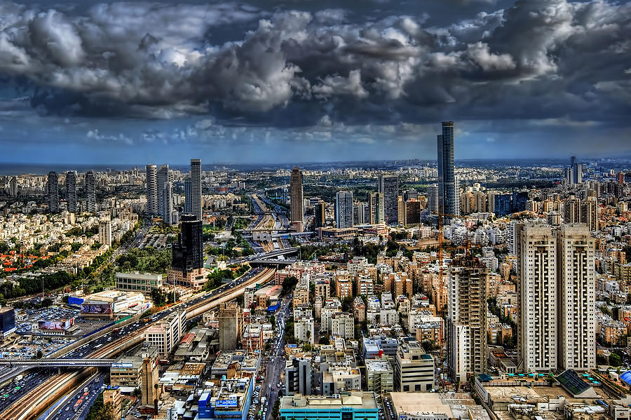 Israel Photograph - Tel Aviv Love by Ron Shoshani