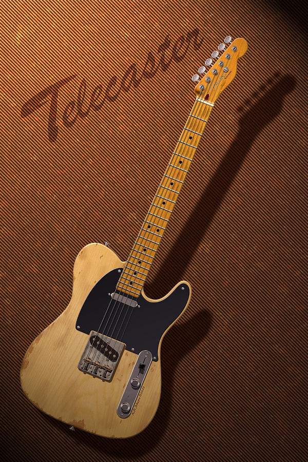 Telecaster Digital Art - Telecaster by WB Johnston