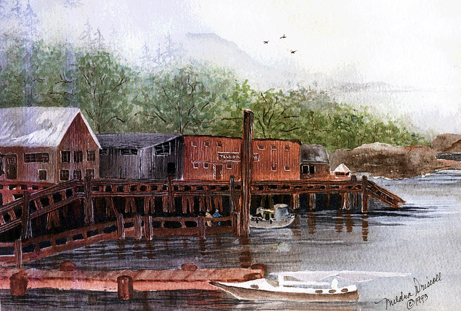 British Columbia Painting - Telegraph Cove by Meldra Driscoll