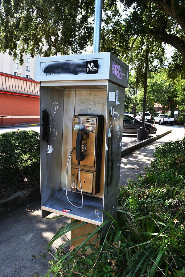 Telephone Box Digital Art - Telephone Box by Victoria Clark