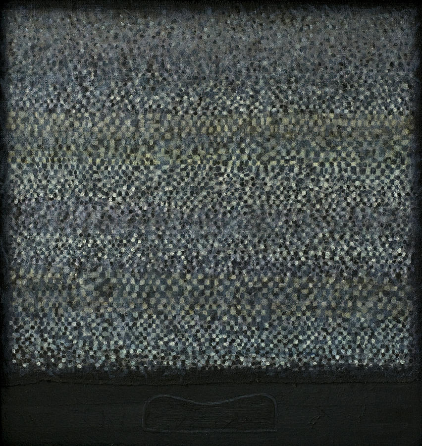 Bed Painting - Television-pillow by Oni Kerrtu