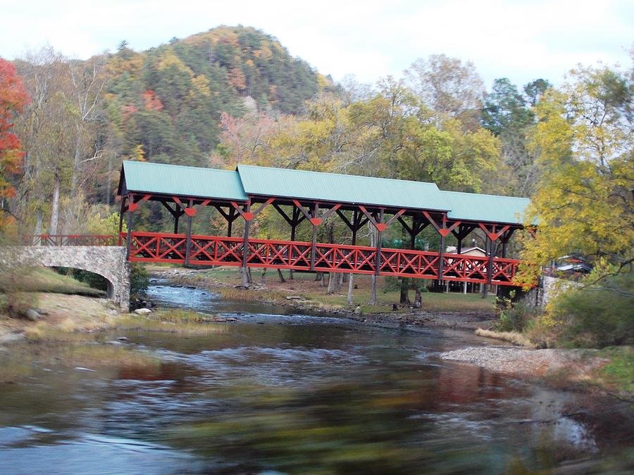 Tellico Bridge In Fall Photograph by Regina McLeroy