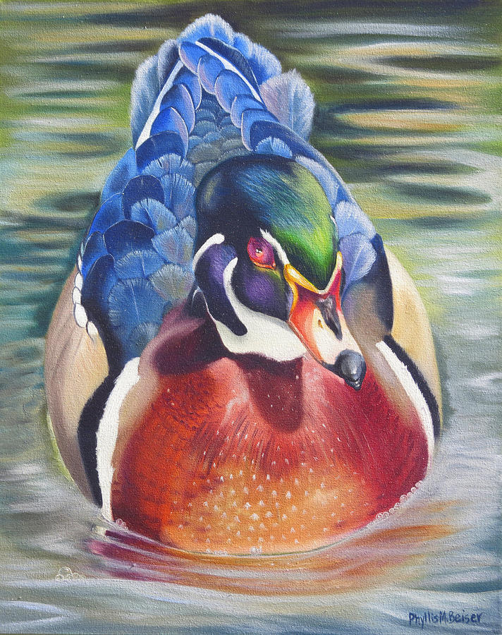 Birds Painting - Telling by Phyllis Beiser