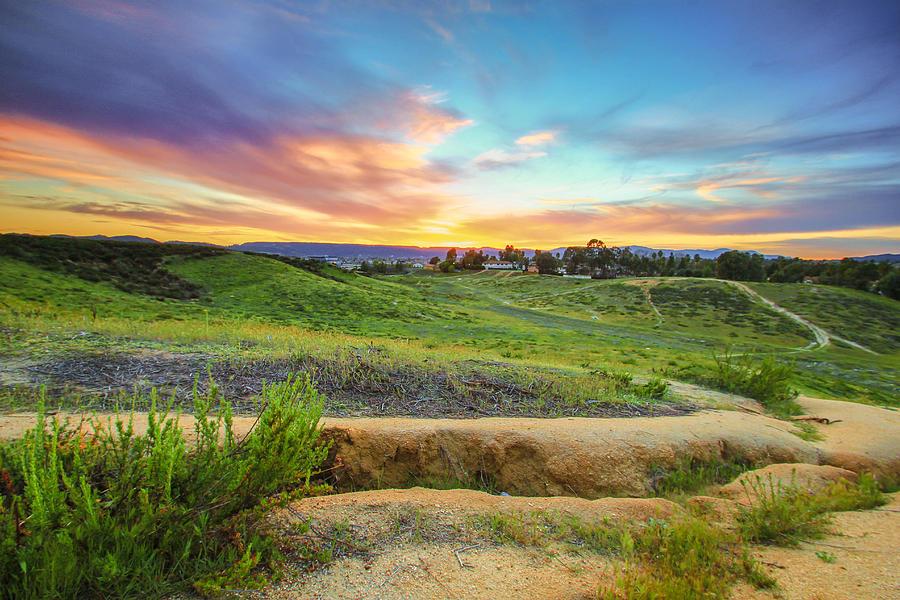 California Photograph - Temecula Hills Sunset by Robert  Aycock