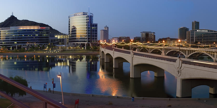 Tempe Photograph - Tempe Town Lake Pano by Dave Dilli