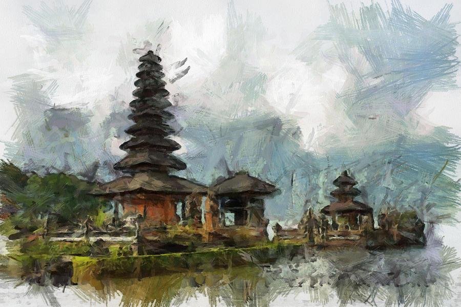 Temple Painting - Temple by Georgi Dimitrov