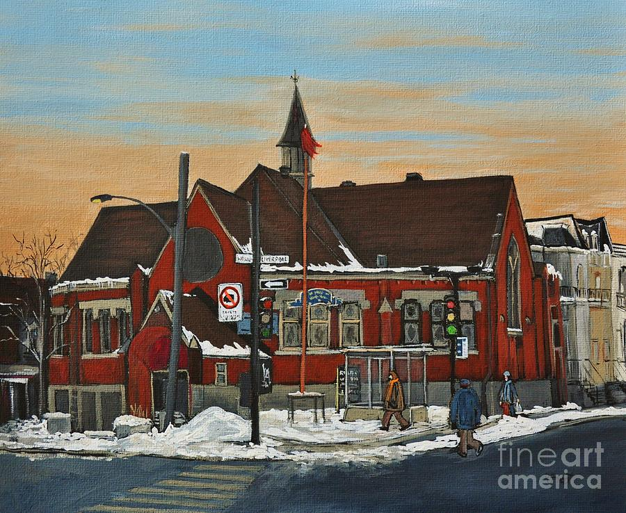 Temples Painting - Temple Gurudwara Sahib  Pointe St Charles by Reb Frost