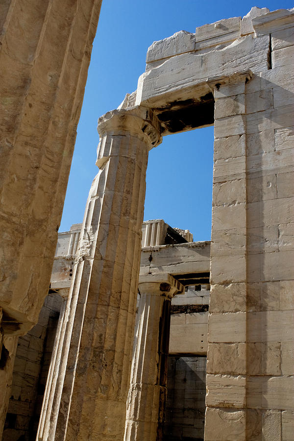 Acropolis Photograph - Temple Maze Of Columns by Lorraine Devon Wilke