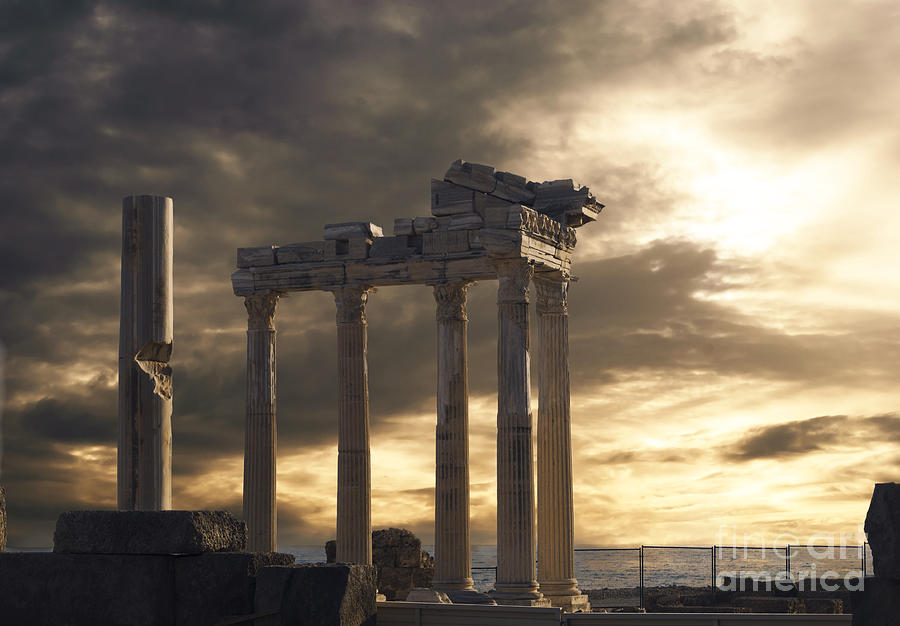 Turkey Photograph - Temple Of Apollo In Side by Jelena Jovanovic