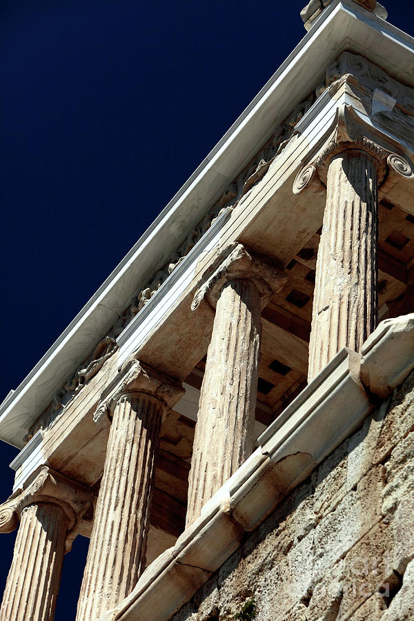 Temple Of Athena Nike Columns Photograph - Temple Of Athena Nike Columns by John Rizzuto
