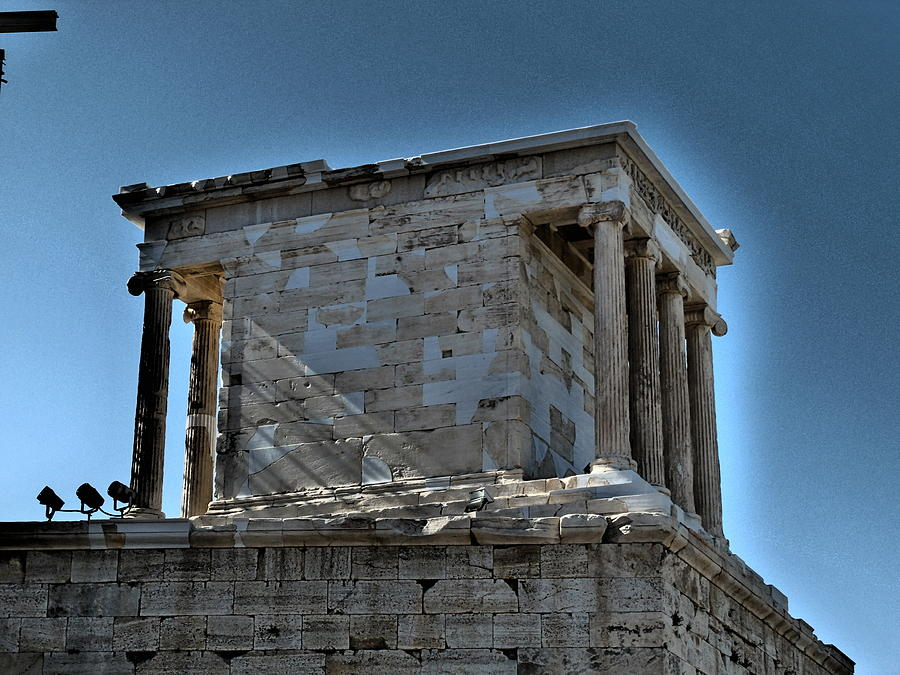 Travel Photograph - Temple Of Athena Nike by James R Martin