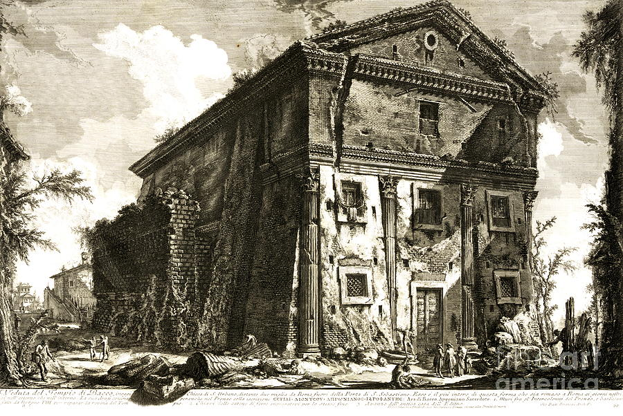 Temple Of Bacchus Rome 1746 Photograph - Temple Of Bacchus Rome 1746 by Padre Art