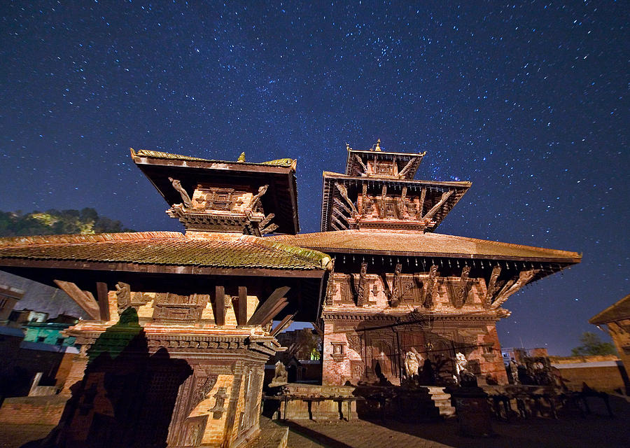 Planet Photograph - Temple Of Panauti by Babak Tafreshi/science Photo Library