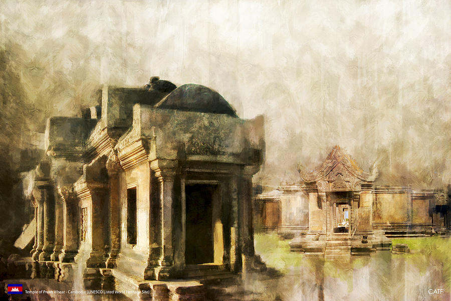 Temple Of Preah Vihear Painting by Catf