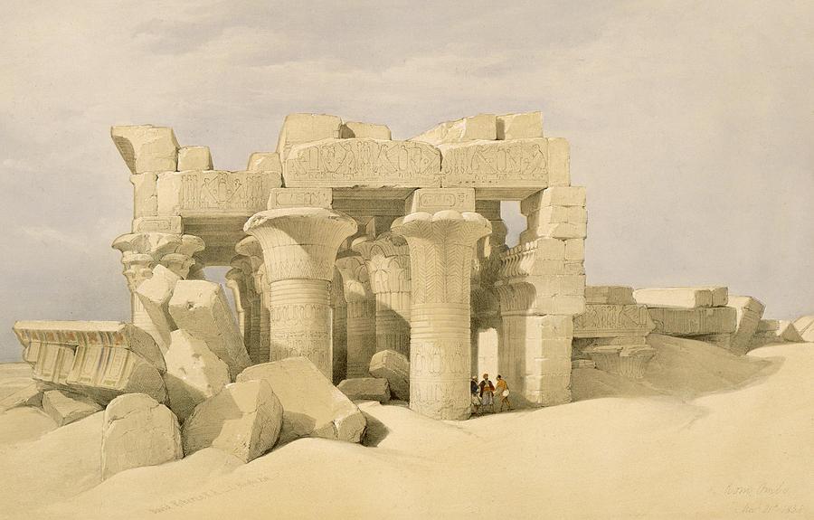 Ruins Painting - Temple Of Sobek And Haroeris At Kom Ombo by David Roberts