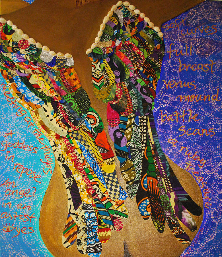 Multi-media Tapestry - Textile - Temple Of The Goddess Eye Vol 1 by Apanaki Temitayo M