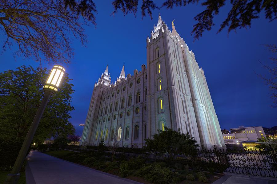 Mormon Photograph - Temple Perspective by Chad Dutson