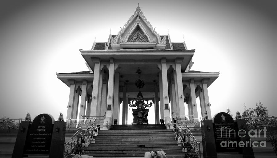 Asia Photograph - Temple Steps by Thanh Tran