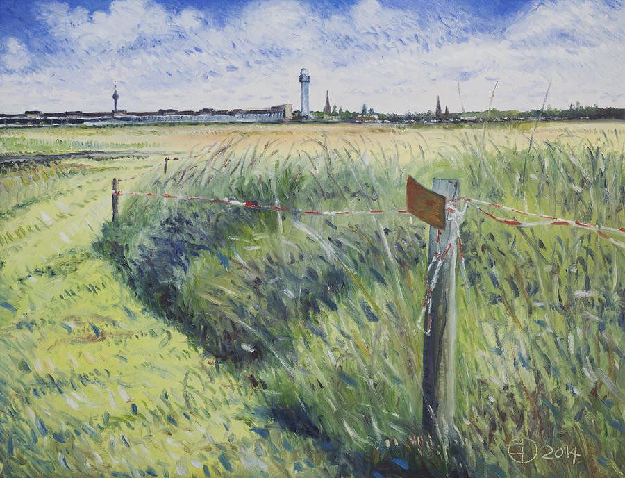 Impressionism Painting - Templehof Airfield Berlin Germany 2014 by Enver Larney