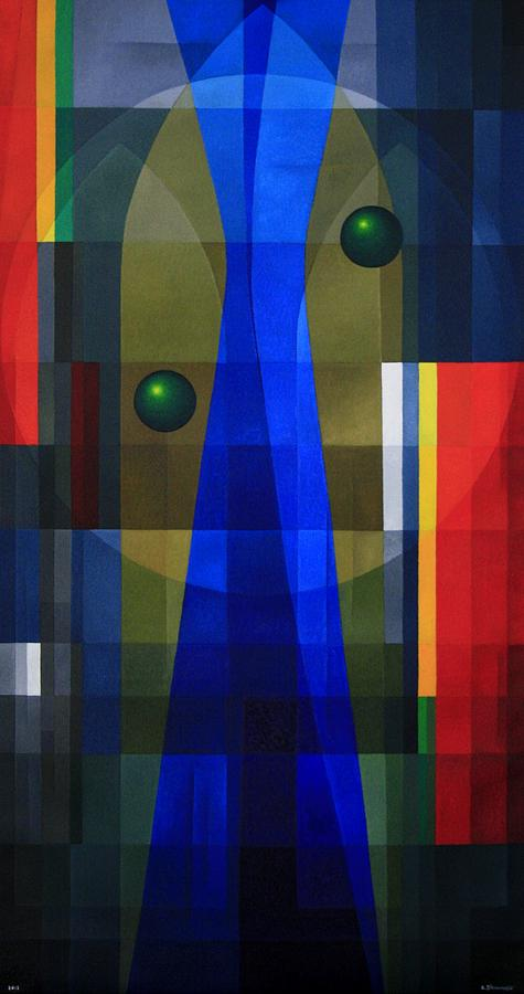 Abstract Painting - Temples Veil by Alberto D-Assumpcao