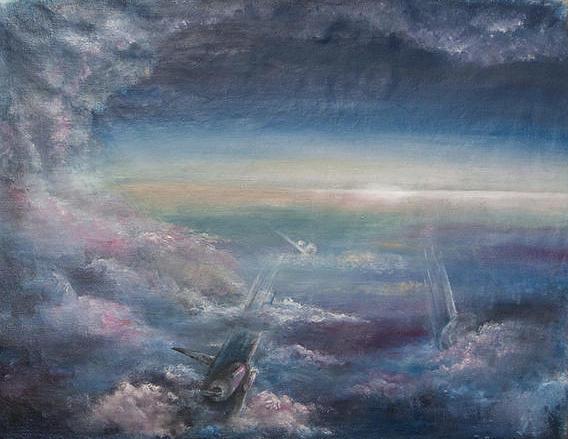 Planes Painting - Temporal And Eternal by Yuliya Patotskaya