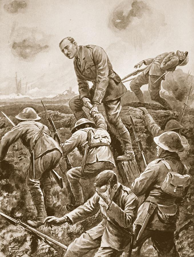 World War One Drawing - Temporary Major S.w. Loudoun-shand by Alfred Pearse