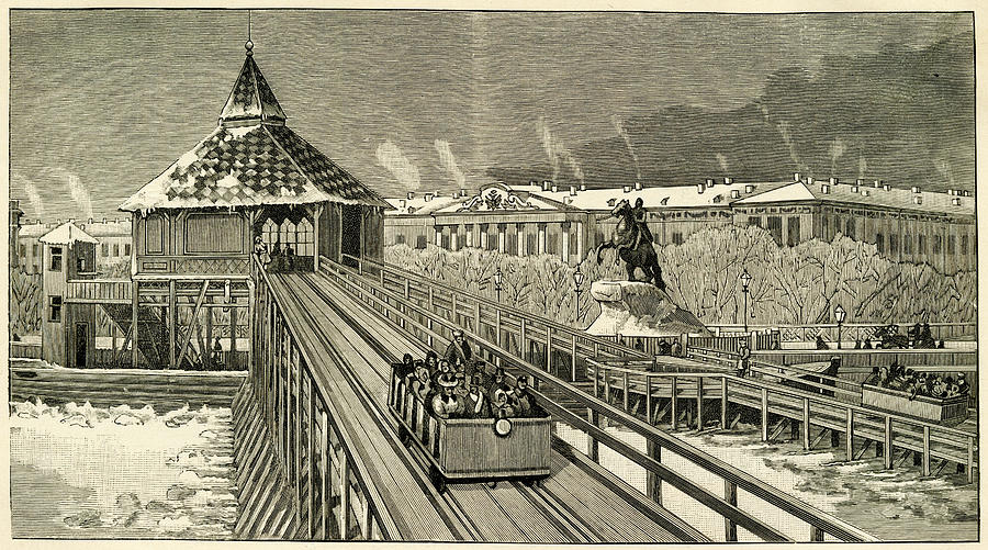 Russian Drawing - Temporary Railway Constructed by Mary Evans Picture Library