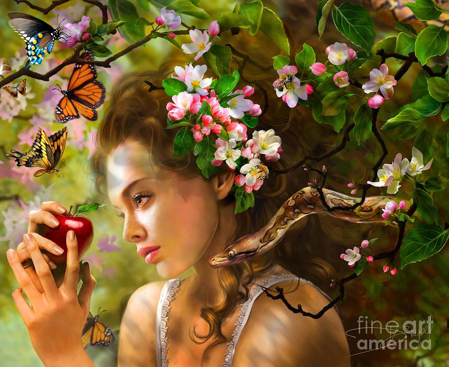 Adult Photograph - Temptation Of Eve by Drazenka Kimpel