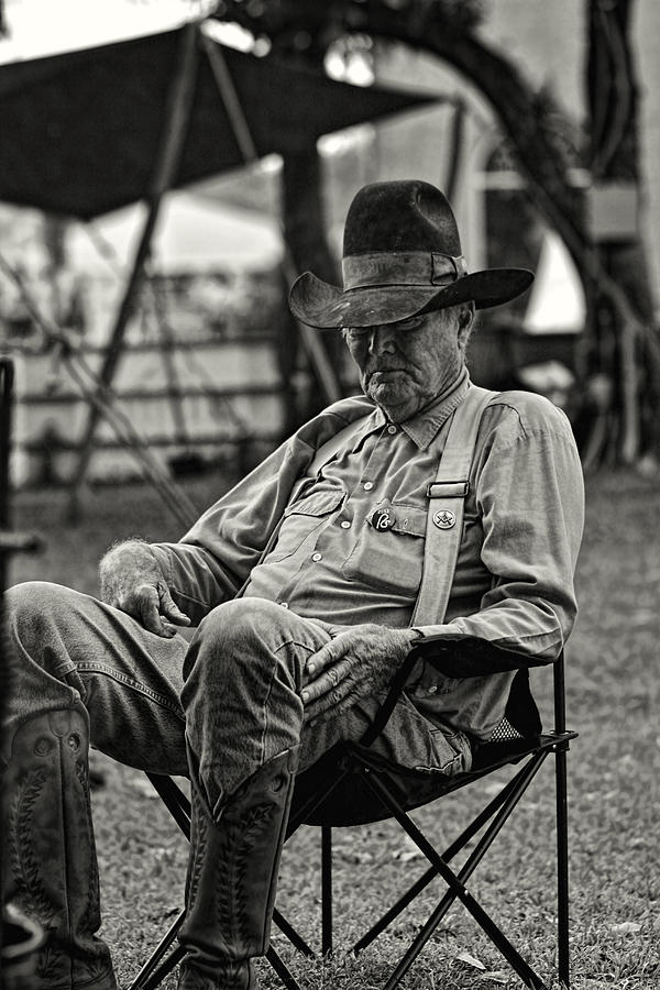 Cowboy And The Ten Gallon Hat Photograph
