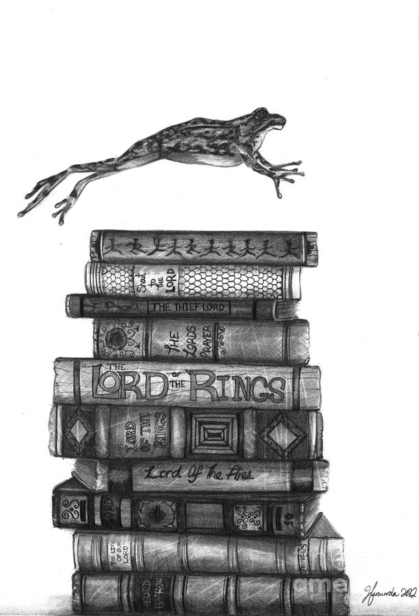 Frog Drawing - Ten Lords A Leaping by J Ferwerda