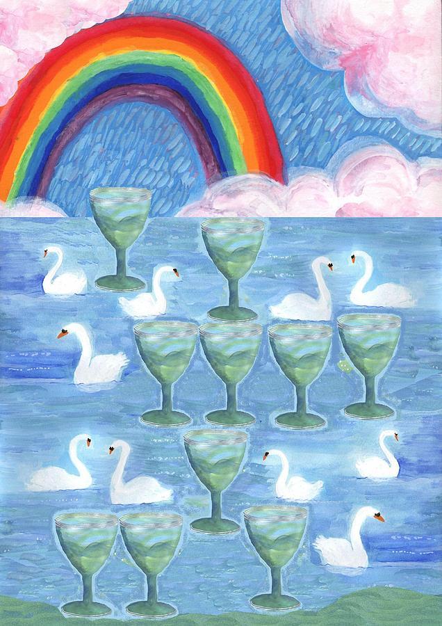 Tarot Painting - Ten Of Cups by Sushila Burgess