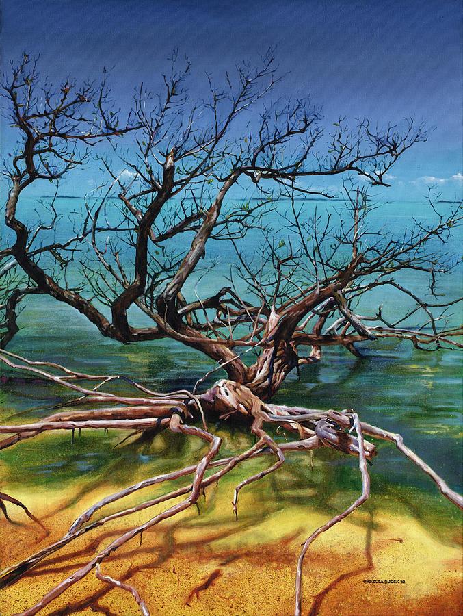 Ten Thousand Islands Painting - Ten Thousand Islands by Urszula Dudek