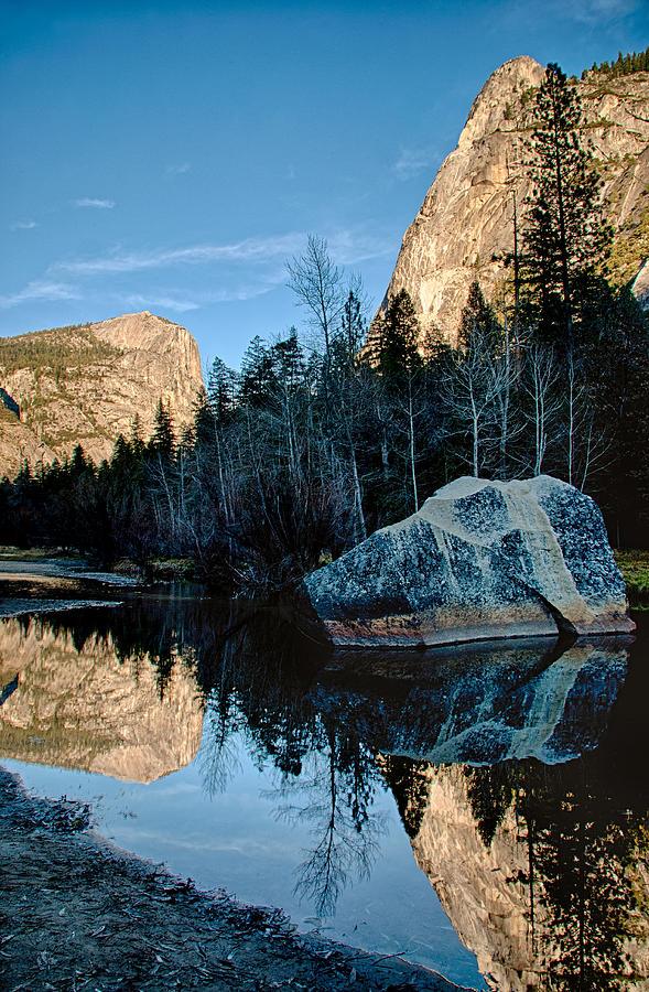 River Photograph - Tenaya Creek Reflections by Cat Connor