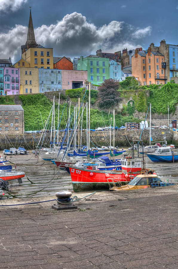 Tenby Photograph - Tenby Harbour In Summer 4 by Steve Purnell