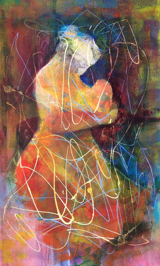 Mother Painting - Tender Moment by Marilyn Jacobson