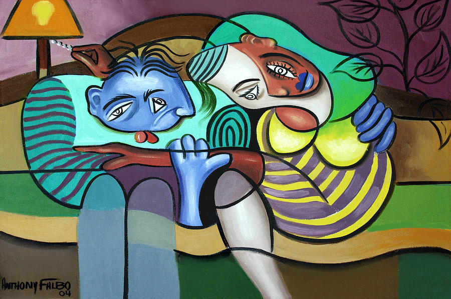 Couple In Love Painting - Tender Moments by Anthony Falbo