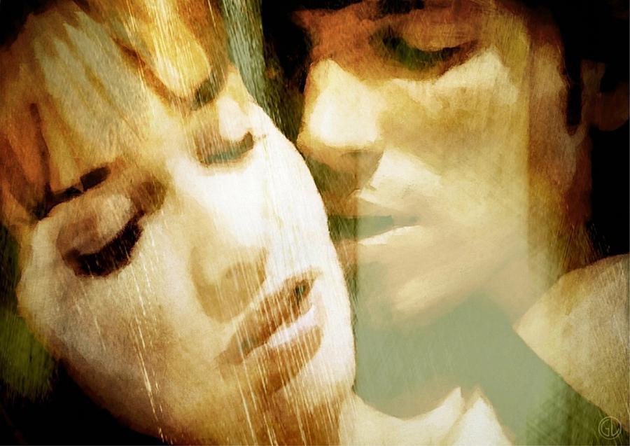 People Digital Art - Tenderness by Gun Legler