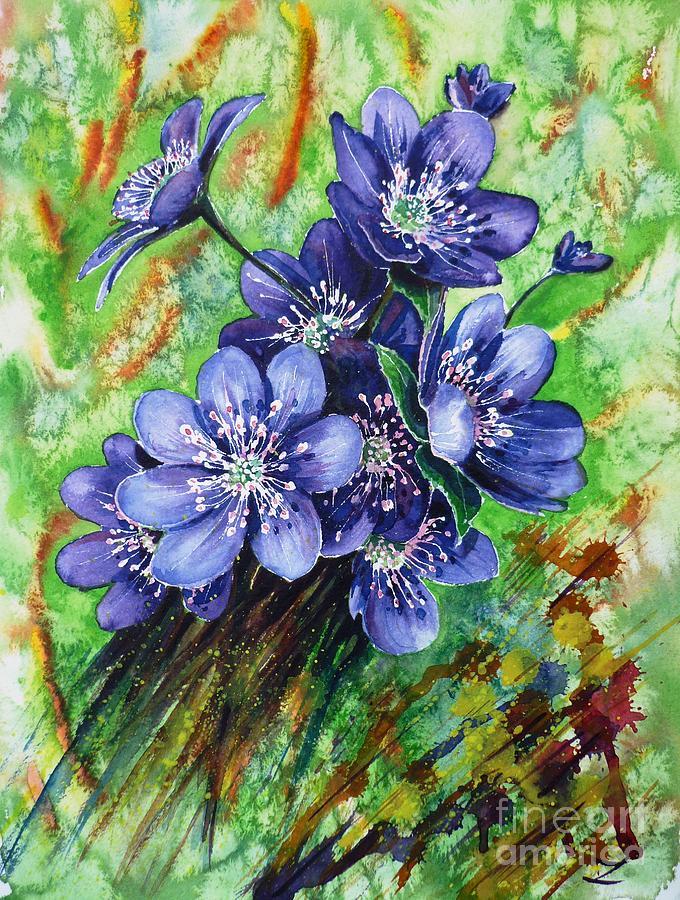 Tenderness Painting - Tenderness Of Spring by Zaira Dzhaubaeva