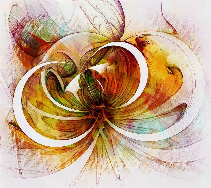 Fractal Digital Art - Tendrils 14 by Amanda Moore