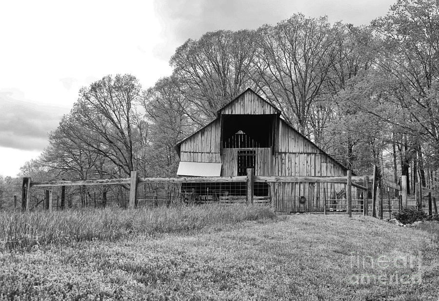 Tennessee Photograph - Tennessee Barn Bw by Chuck Kuhn