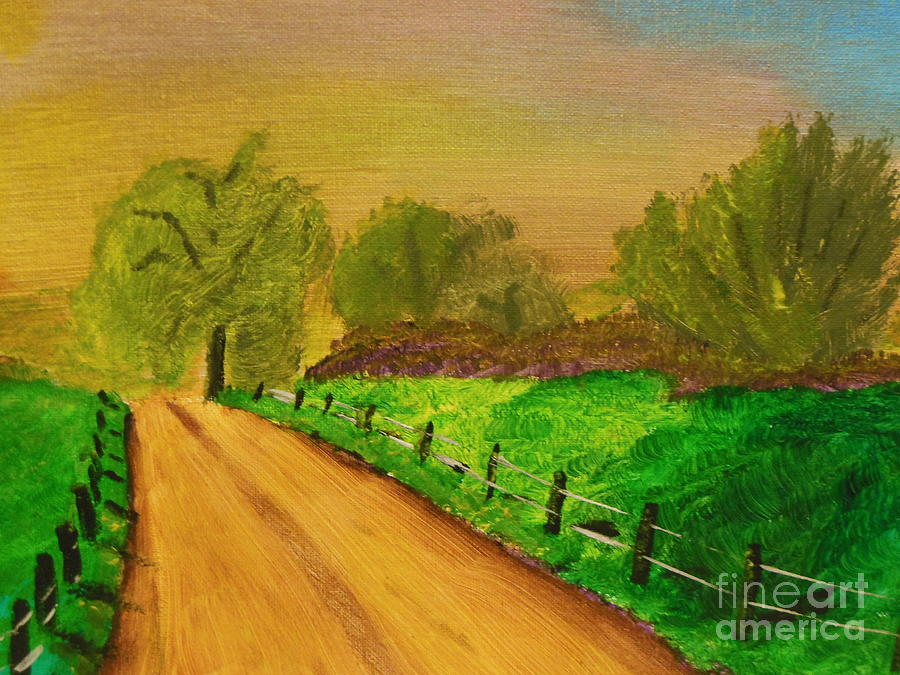 Tennessee Painting - Tennessee Road by Harold Greer