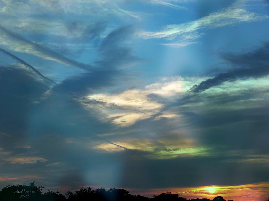 Sunset Photograph - Tennessee Sunset by EricaMaxine  Price