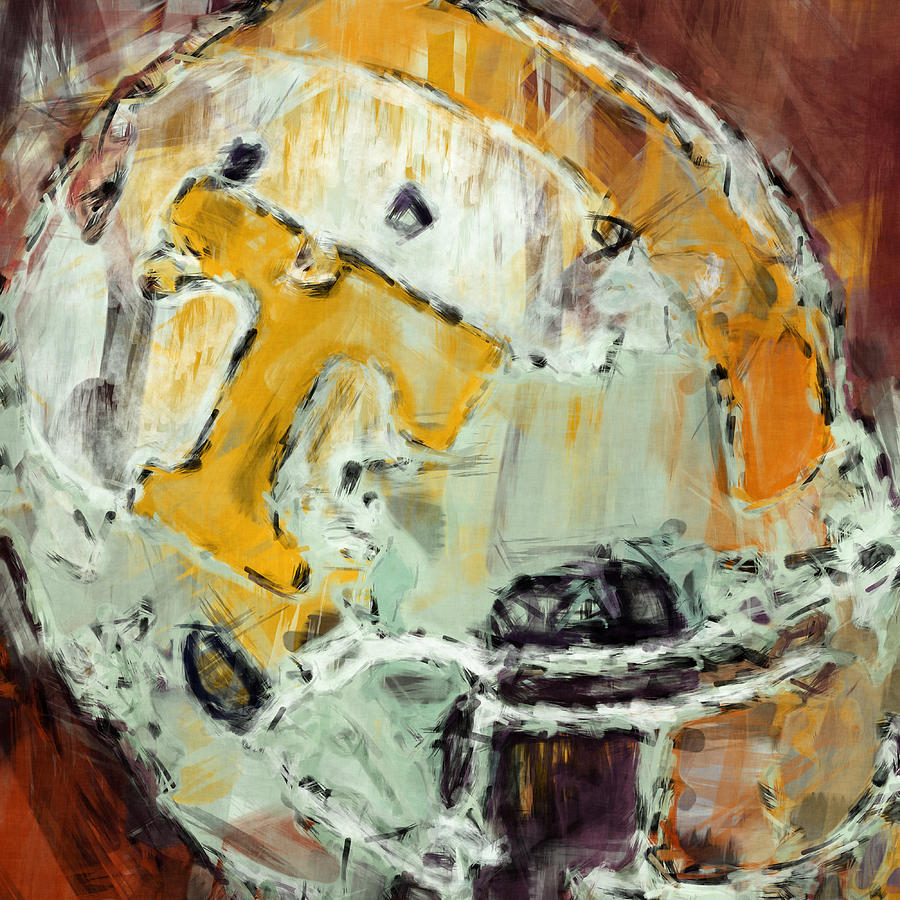 Tennessee Volunteers Helmet Abstract Digital Art