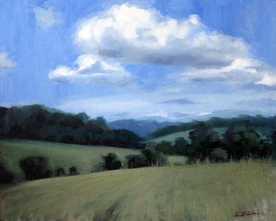 Tennessee Painting - Tennessees Rolling Hills And Clouds by Erin Rickelton